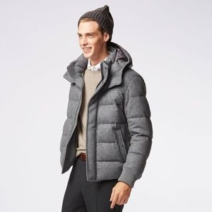 Uniqlo Stretch Wool Blended Down Jacket